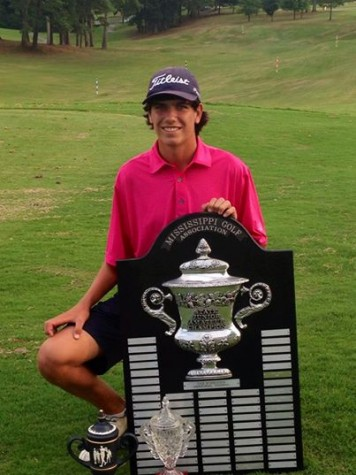Rising 10th-grader Charlie Miller shot 5 under par to win the 2014 Mississippi Junior Amateur Golf Championship on August 1.
