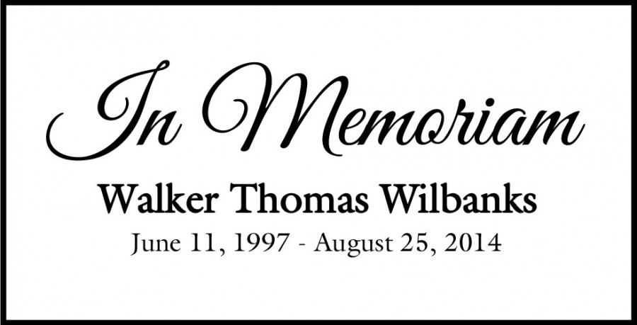 Graphic memorializing Walker Wilbanks on the Jackson Prep website.