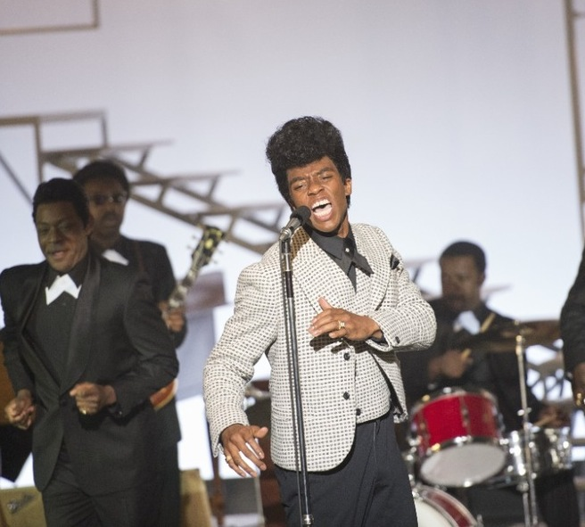 """Hudson Chadwick as """"The Godfather of Soul"""" James Brown."""