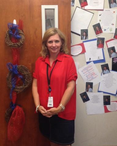 Ms. Mari Farrington in her classroom. Photo by Michael Wilson