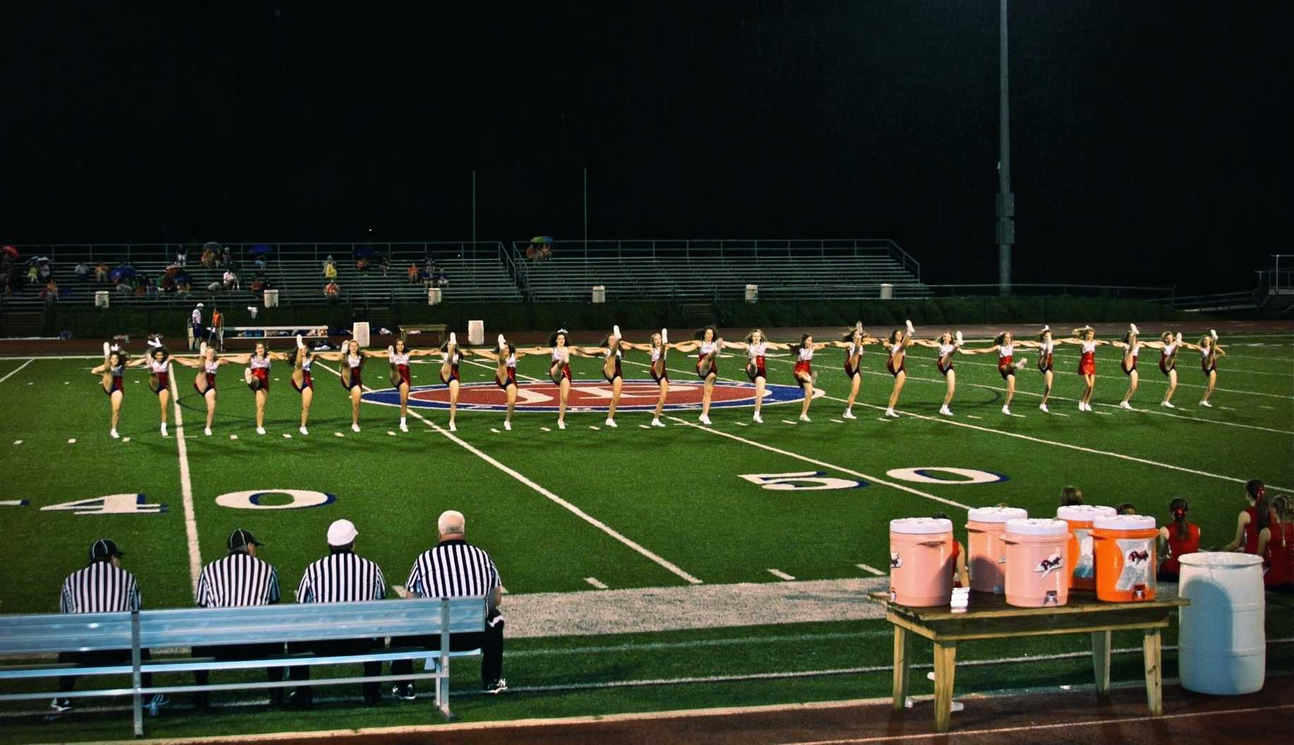 Spirit takes the field. Photo by Katie Rose O'Quinn