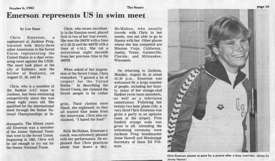 FROM+THE+ARCHIVES%3A+Vol.+XIII%2C+No.+1+%28Oct.+6%2C+1982%29+-+%22Emerson+Represents+U.S.+in+Swim+Meet%22