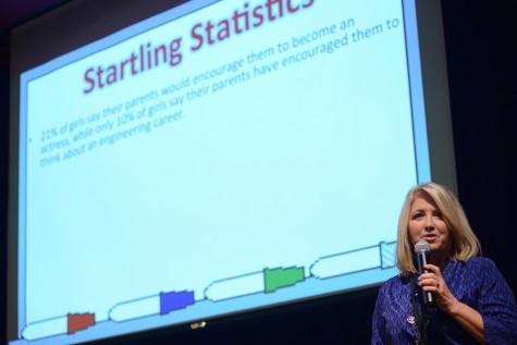 Ms. Lauri Byrd kicks off the symposium. Photo courtesy of Ms. Vicki King.