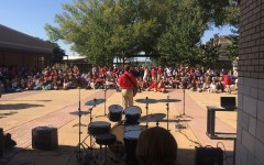 Wesley Roberson serenades the student body with