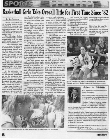 "FROM THE ARCHIVES: Vol. XXXVI, No. 5 (May 2006) – ""Basketball Girls Take Overall Title for First Time Since '82"""