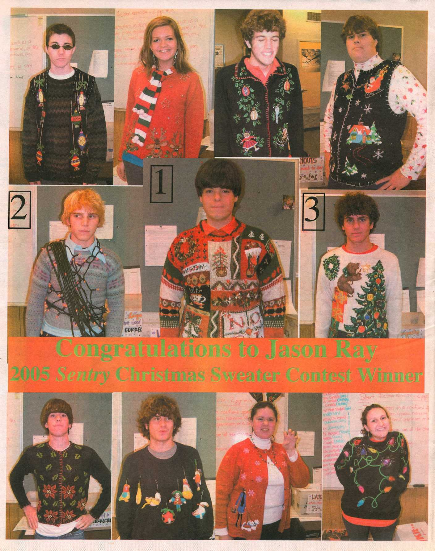 Tacky Sweater Winners 2005