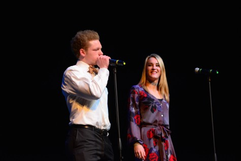 "(photo courtesy of Mr. Hubert Worley) Cooper Henry and Riley Kellum sing ""Brighter Days"""
