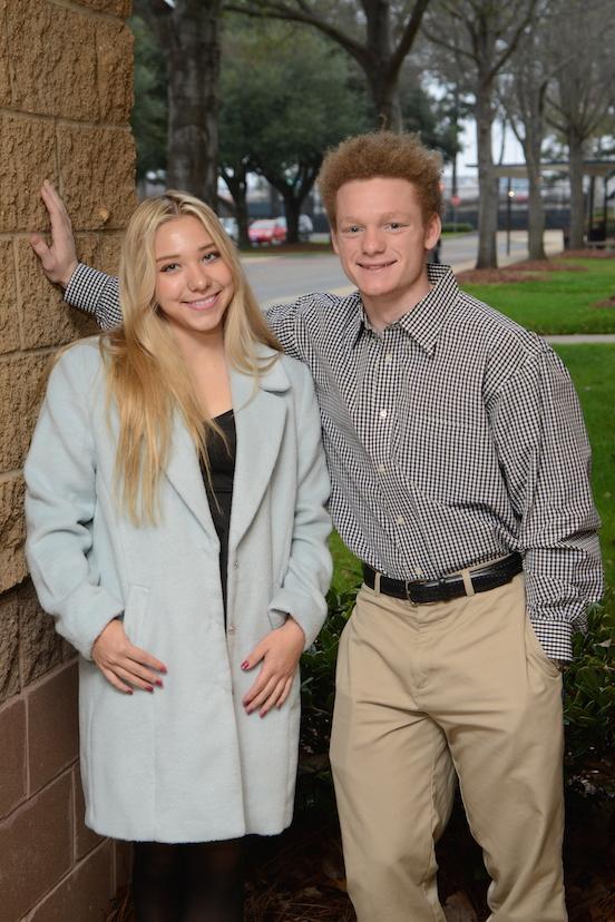Friendliest: Cooper Henry and Lila Burton  (photo courtesy of Mr. Hubert Worley)