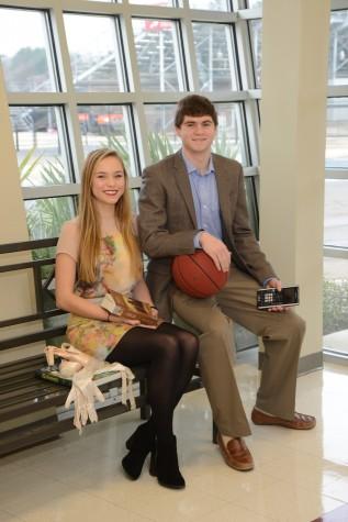 Most Versatile: Ben Clark and Caroline Jones  (photo courtesy of Mr. Hubert Worley)