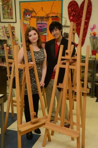 Most Artistic: Hanson Woo and Rebecca Garcia  (photo courtesy of Mr. Hubert Worley)