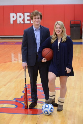 Most Athletic: Gene Wood and Kathryn Bickerstaff (photo courtesy of Mr. Hubert Worley)