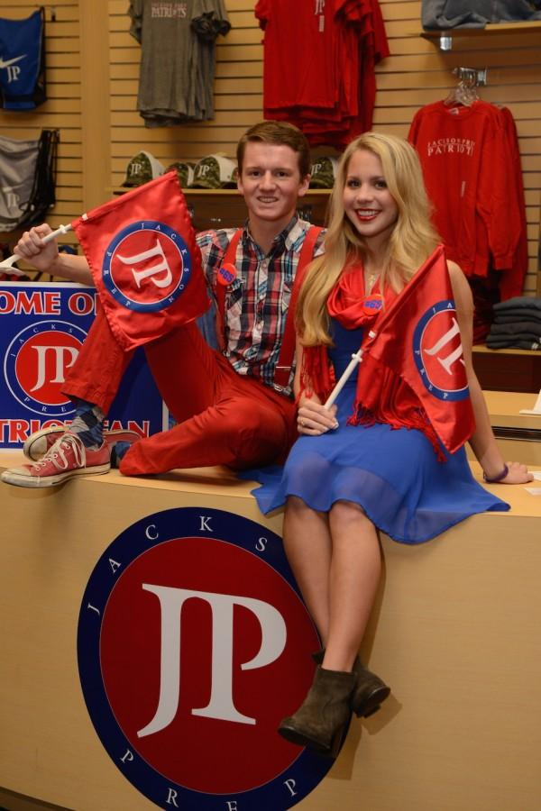 Most School Spirited:  Alex Russell and Ashley Johnston (photo courtesy of Mr. Hubert Worley)