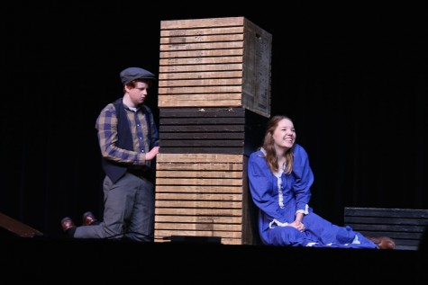 "Claire Parish and John William Creel play Frankie and Davey in ""The Voice of the Prairie."" (Photo by Megan Dallas)"
