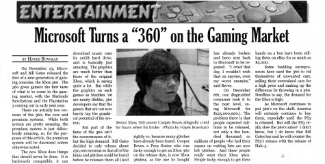 "FROM THE ARCHIVES: Vol. XXXVI, Issue 3 (Dec. 2005) – ""Microsoft Turns a '360' on the Gaming Market"""