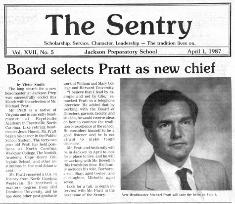"FROM THE ARCHIVE: Vol. XVII, No. 5 (April 1987) – ""Board selects Pratt as new chief"""