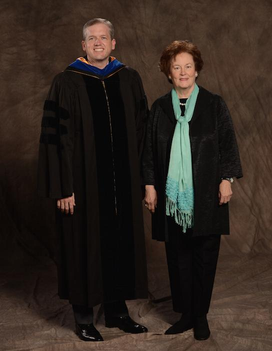 Dr. Walton with Prep's most recent Head of School, Ms. Susan Lindsay.