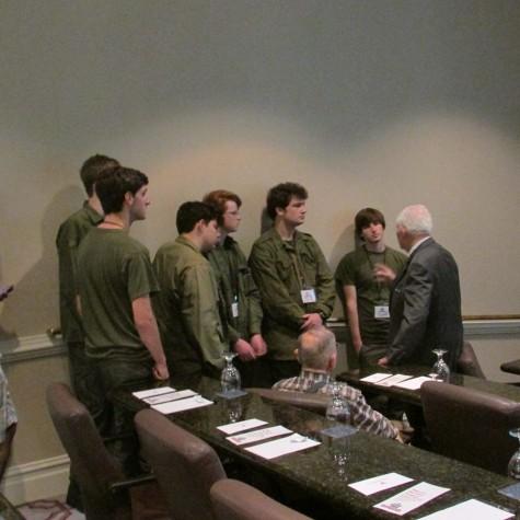 MASH cast speaks with a World War II veteran