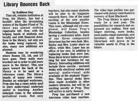 "FROM THE ARCHIVES: Vol. X (Nov. 1979) – ""Library Bounces Back"""