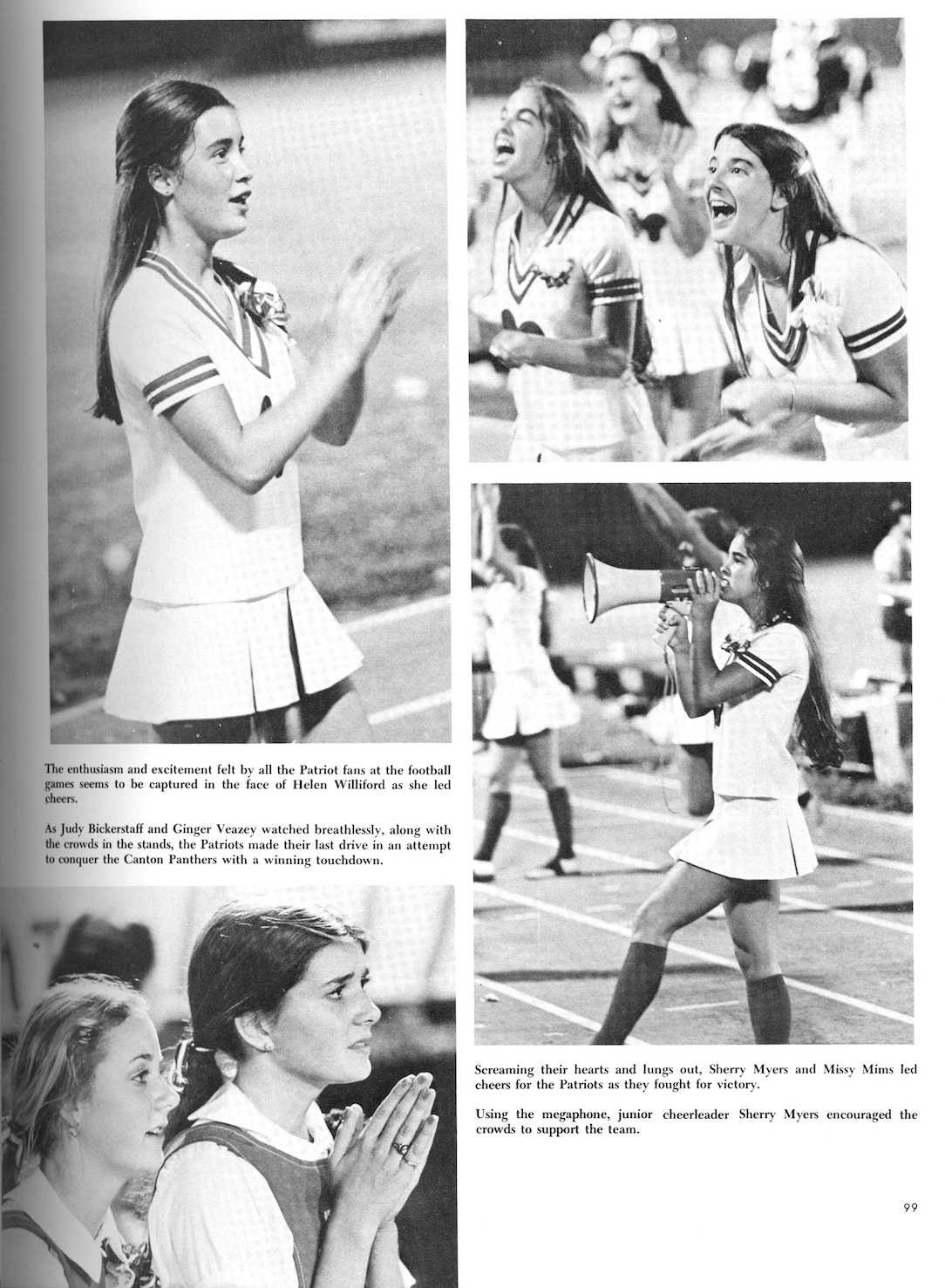 1977 yearbook cheerleaders