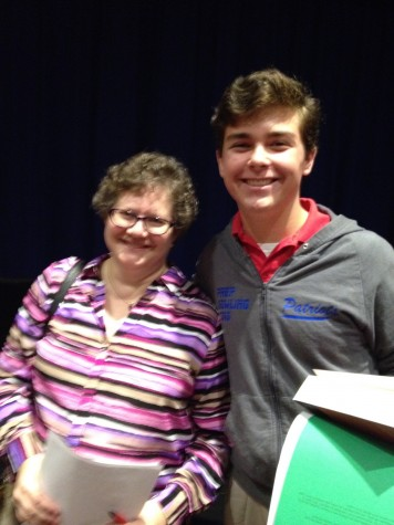 Dr. Whitney and first place winner Lawson Marchetti. Photo courtesy of Dr. Lisa Whitney.
