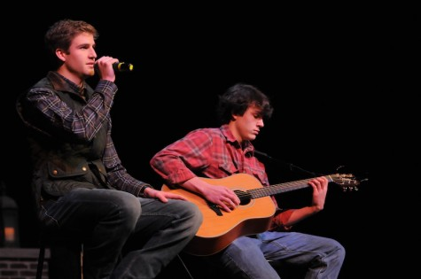 "Holman Buchanan and Joseph Upton performing ""Die a Happy Man"" by Thomas Rhett. Photo courtesy of Hubert Worley Photography."