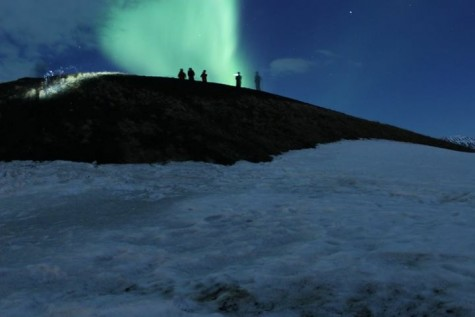 The Northern Lights. Photo courtesy of Ms. Norma Cox.