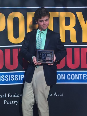 Poetry Out Loud winner Lawson Marchetti. Photo by Hays Dubberly.
