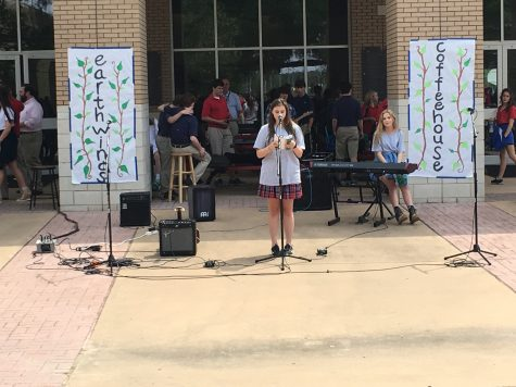 Students recited poetry for the audience in between musical performances.