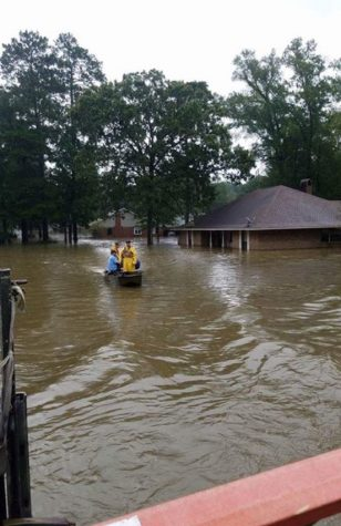 Flooding in Louisiana. Photo courtesy of Julia Sumrall.