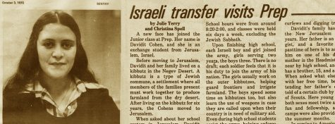 "FROM THE ARCHIVES (Vol. VI, No, 1 – Oct. 1975): ""Israeli transfer visits Prep"""