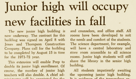 "FROM THE ARCHIVES (Vol. I, No. VII – June 1971): ""Junior high will occupy new facilities in fall"""