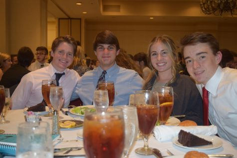 Smiles at the banquet.