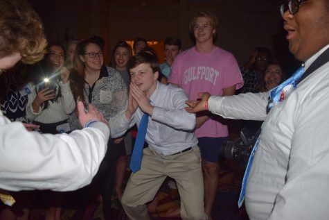 Prep delegate and gubernatorial candidate Aidan Creel participates in the ancient legislative tradition of the dance-off.