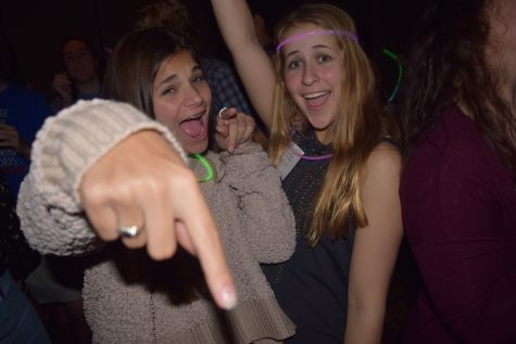 Kennedy Marble and Emison Geiger cut loose at the last evening's Youth Leg dance.