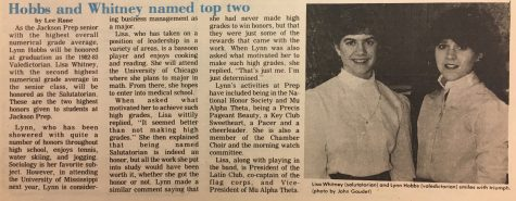 "FROM THE ARCHIVES (Vol. XIII, No. 6 – May 17, 1983): ""Hobbs and Whitney named top two"""