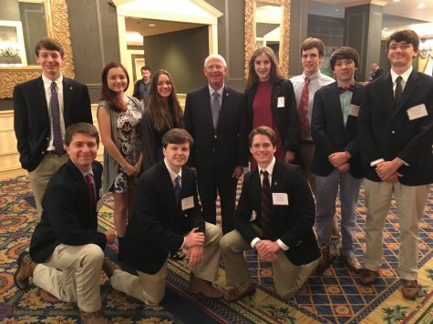 Part of the Prep delegation meets with U.S. Senator Roger Wicker (R-Mississippi) before he addresses the closing ceremony.