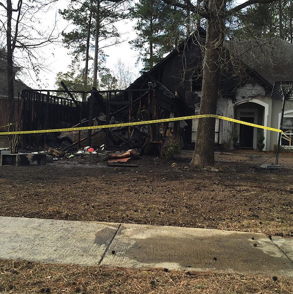 The Malones' house following early morning fire.