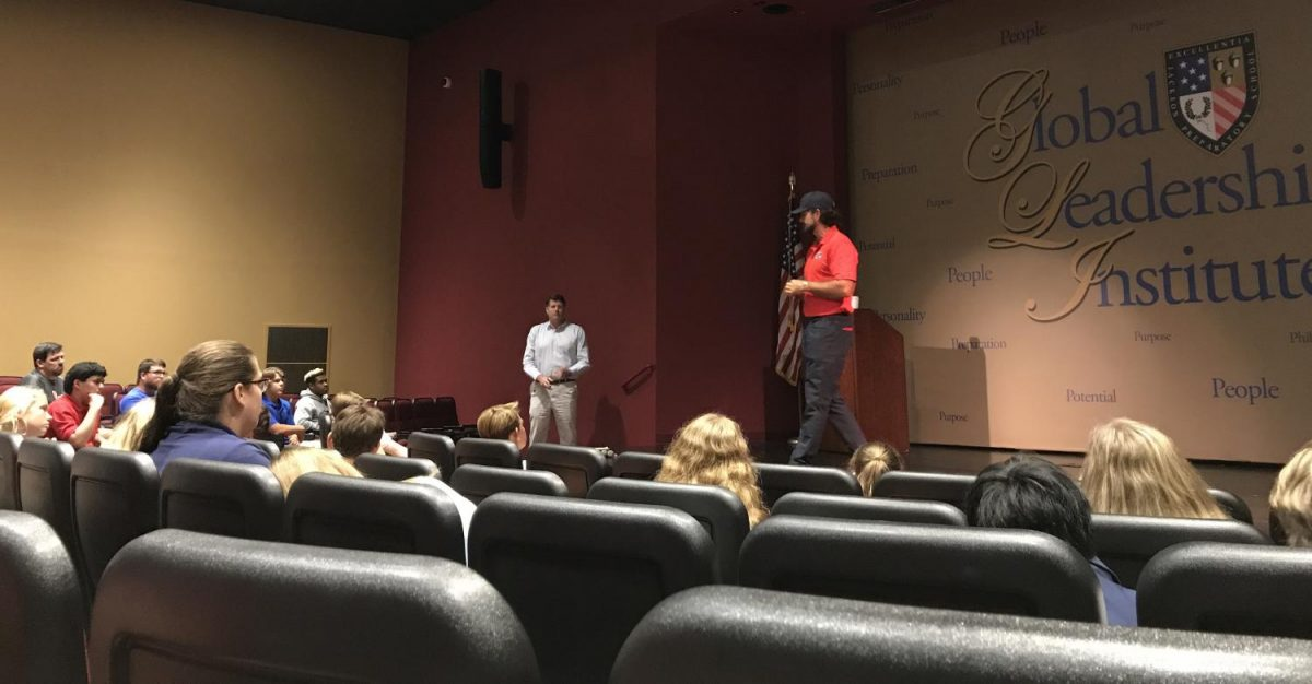 Former Navy SEAL inspires students to live the