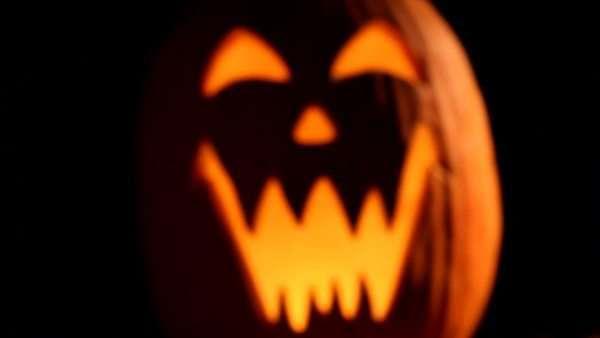 A spooky Halloween night