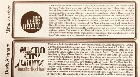 "FROM THE ARCHIVES (Vol. XL, Issue 3-Nov. 2009): ""Concert and Music Festival Reviews"""