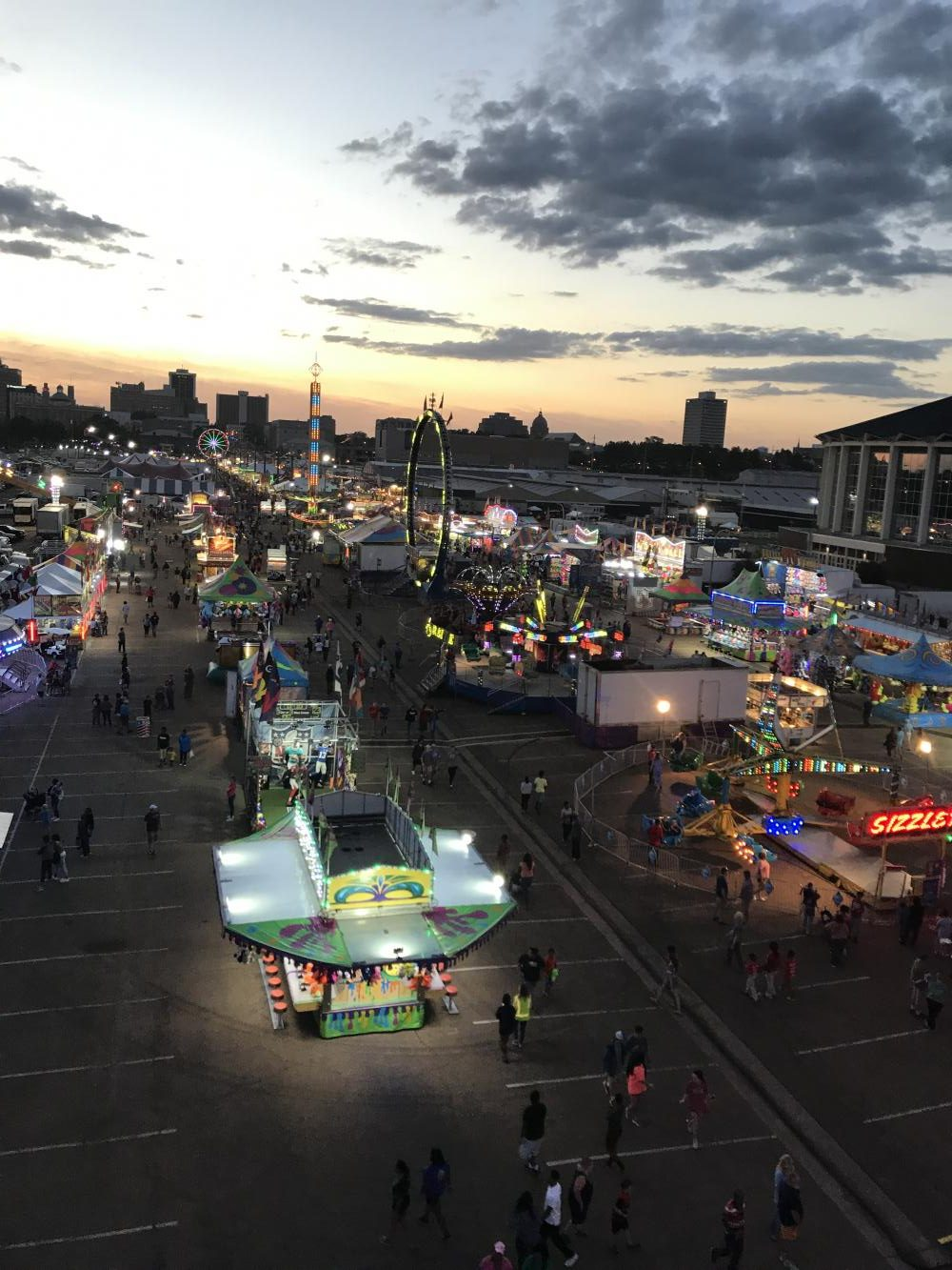 View of the fair from the Ferris Wheel. Photo courtesy of Maclain Kennedy.