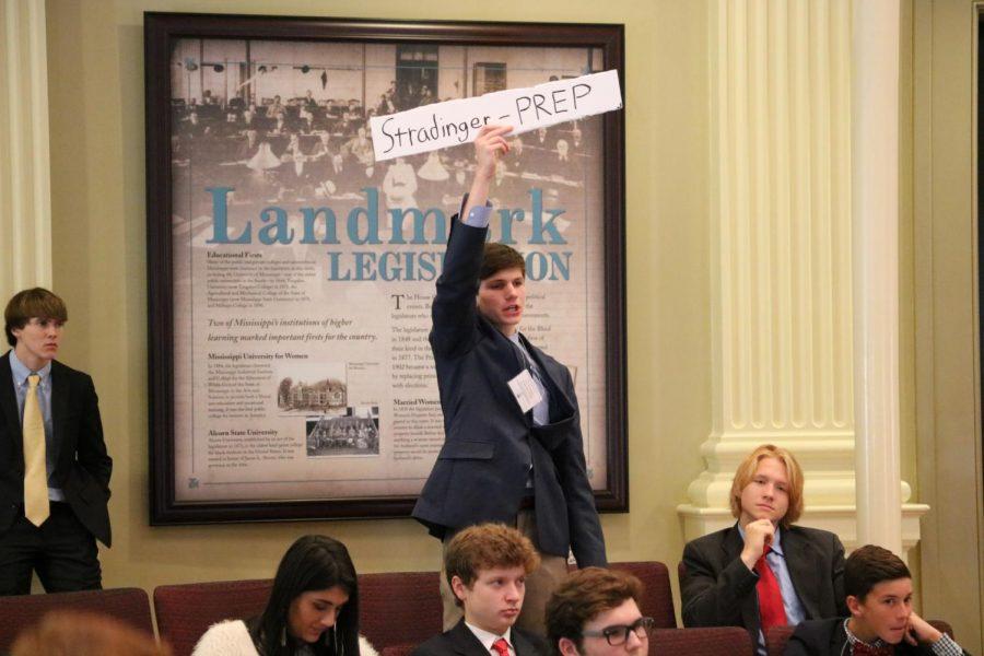 Youth Leg participants argue, vote, and legislate