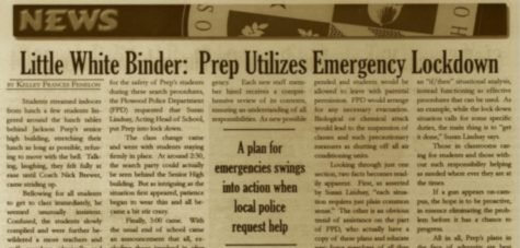 "FROM THE ARCHIVES (Vol. XXVII, No. 2 – October 1996): ""Prep defends swim team championship"""