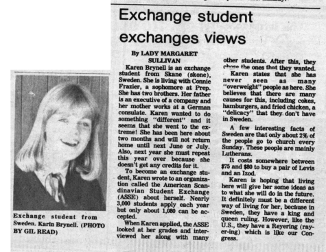 "FROM THE ARCHIVES (Nov. 14, 1980): ""Exchange student exchanges views"""