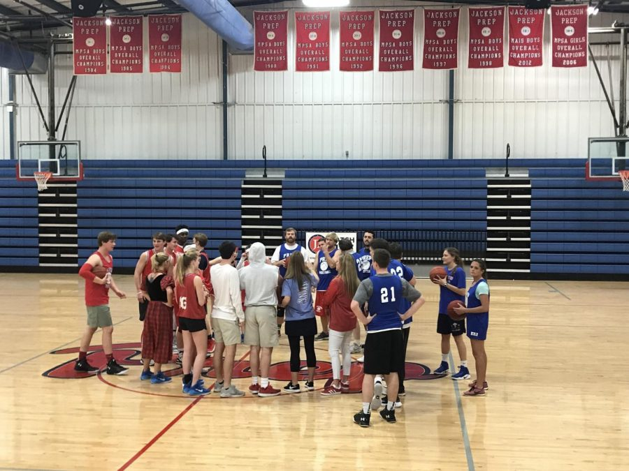 Teachers beat their students again, but only at basketball
