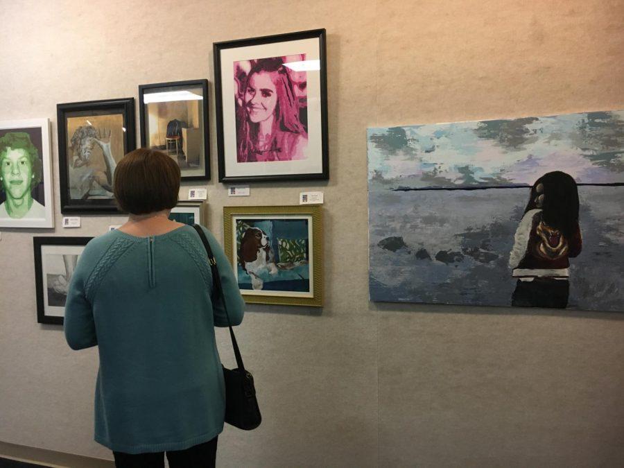 Seniors showcase artwork in Prep's art gallery