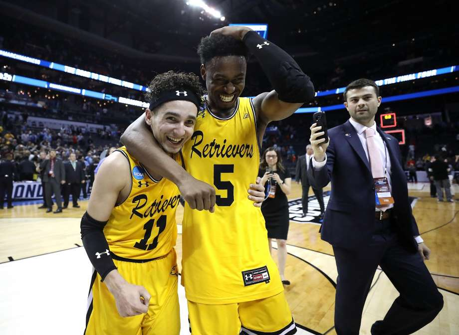 UMBC player's following their win over one-seeded Virginia.