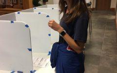 Seniors exercise their right to vote