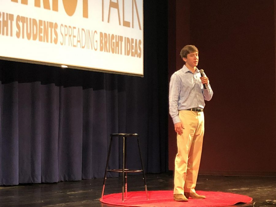 Patriot Talks took place in Lindsay Hall.