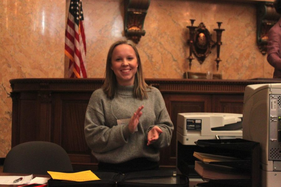 Junior Elizabeth Downing was elected Speaker of the House for the 2019 session.